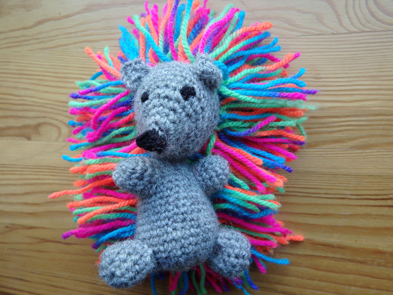 Amigurumi hedgehog rainbow crochet amigurumi mini cute