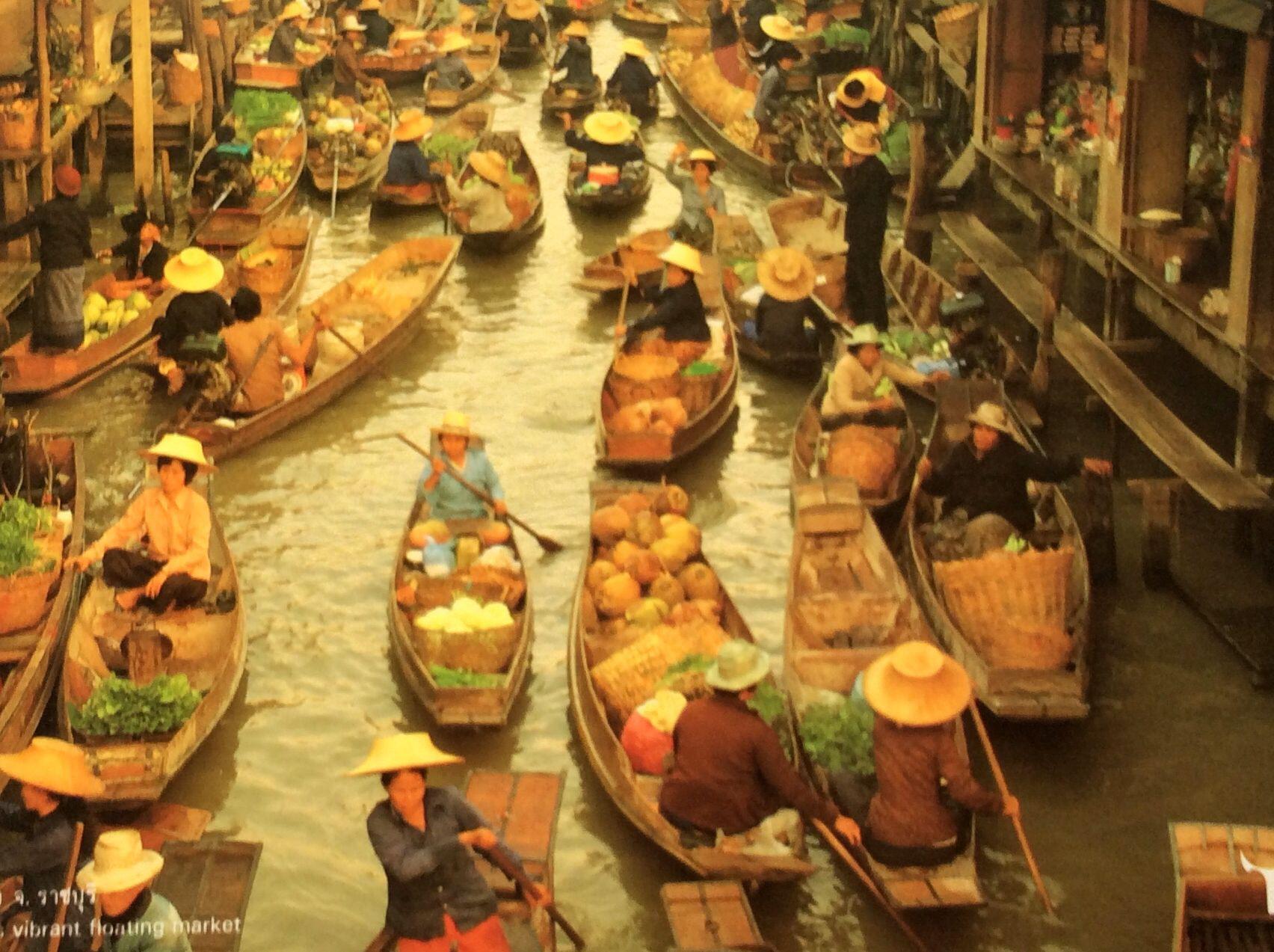 ตลาดนำ้ดำเนินสดวก ราชบุรี