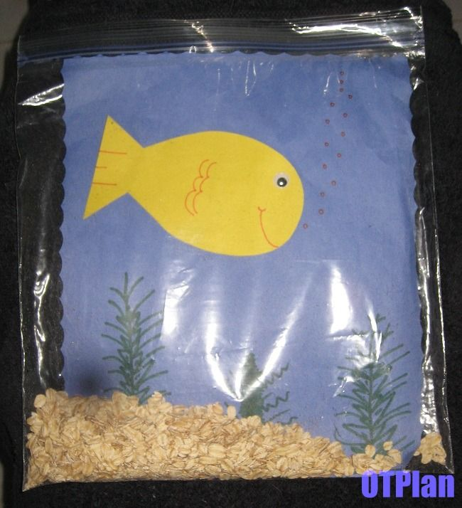 Your very own fish tanm,, fine motor work..