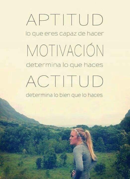 Aptitud Motivación Y Actitud Motivacion Frases Citas De