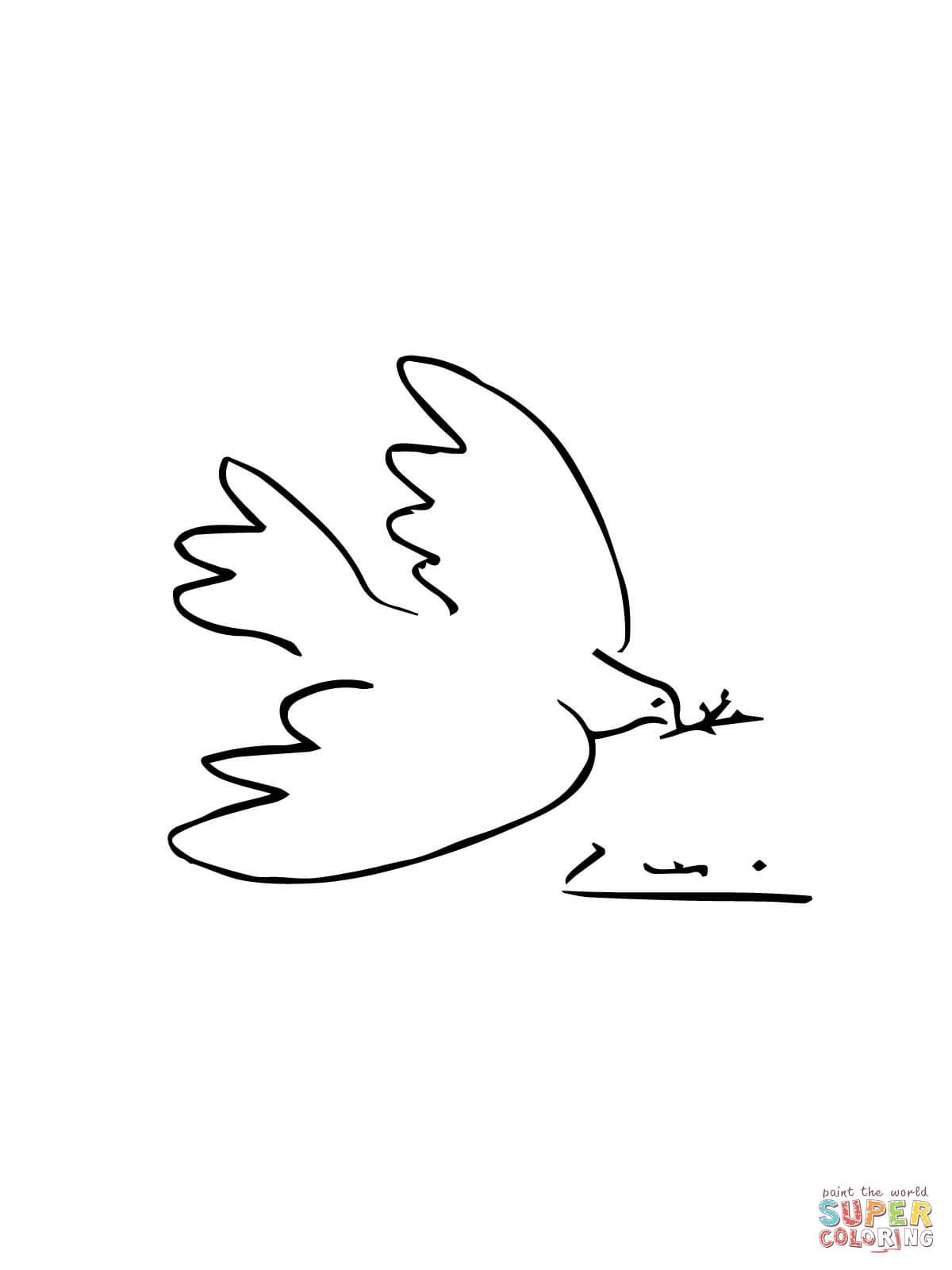 Peace Dove Coloring Page Free Printable Coloring Pages Picasso Coloring Picasso Picasso Dove Of Peace