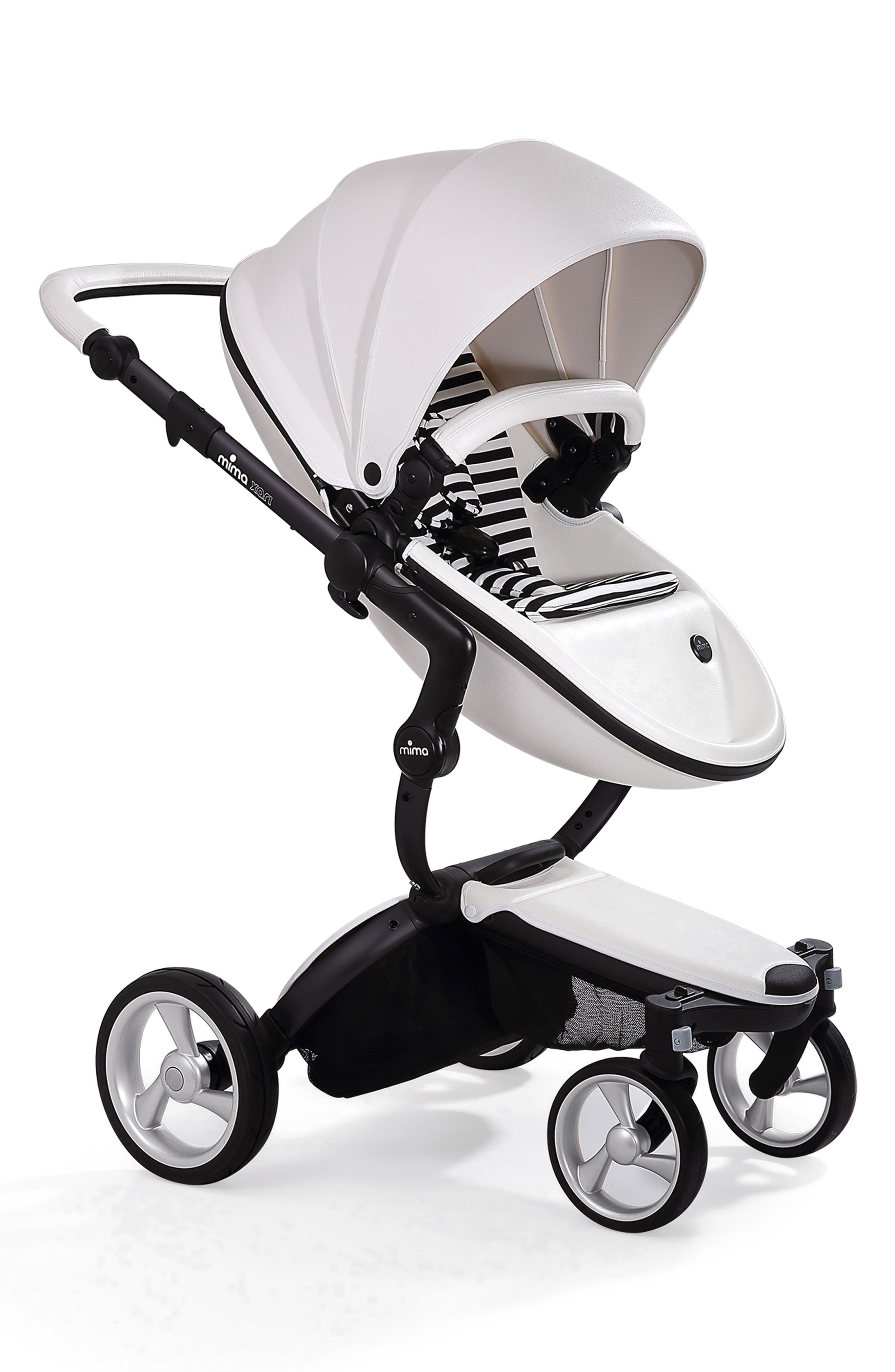 Infant Mima Xari Black Chassis Stroller With Reversible