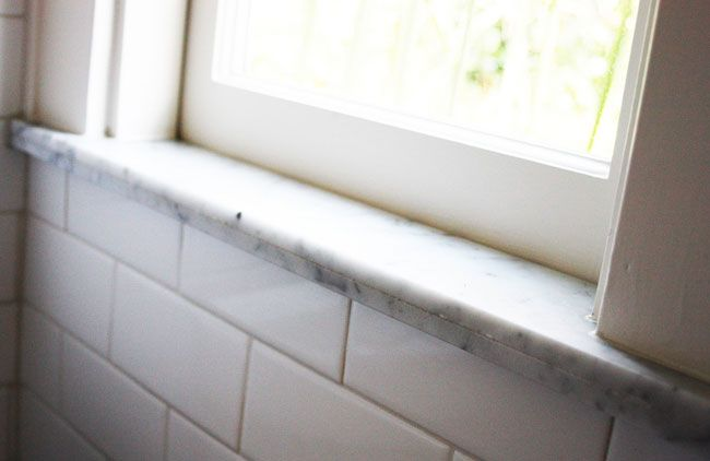 Marble Window Sill In Shower