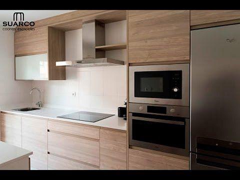 Cocina moderna nordica con encimera de silestone blanco - Cocinas de silestone ...