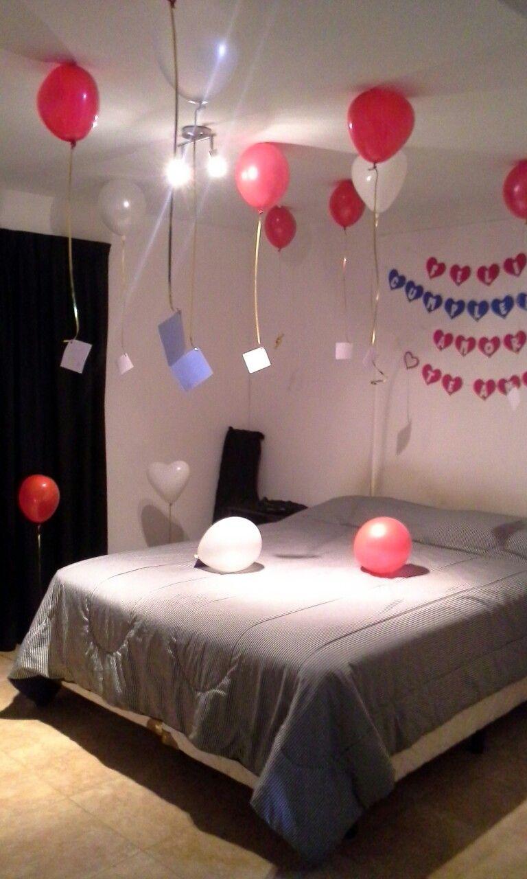 pequea sorpresa de cumpleaos para mi novio hermoso globos rojos y
