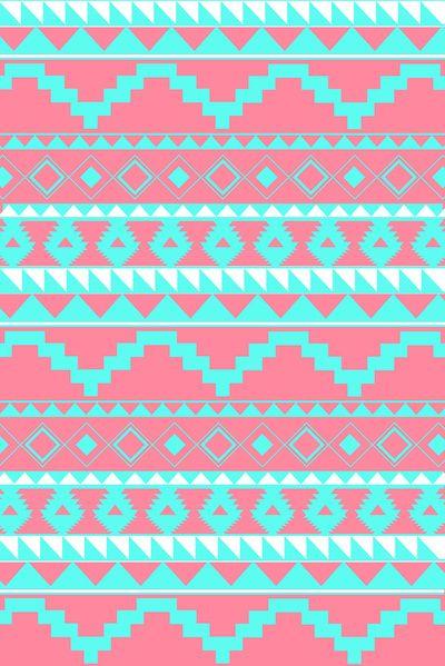 Aztec Pattern 2 Teal Pink Art Print By Dani Society6 Pink Art Print Pattern Wallpaper Aztec Pattern