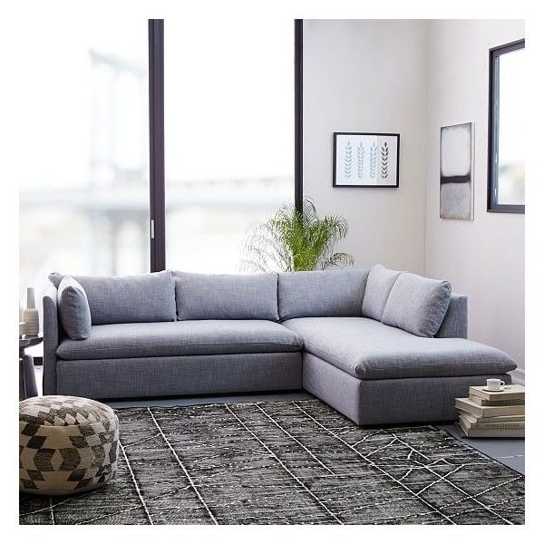 West Elm Shelter Set 1 Left Arm Sofa Right Arm Terminal Chaise 2 898 Liked On Polyvore Featurin Sectional Sofa Couch Living Room Sectional Sectional