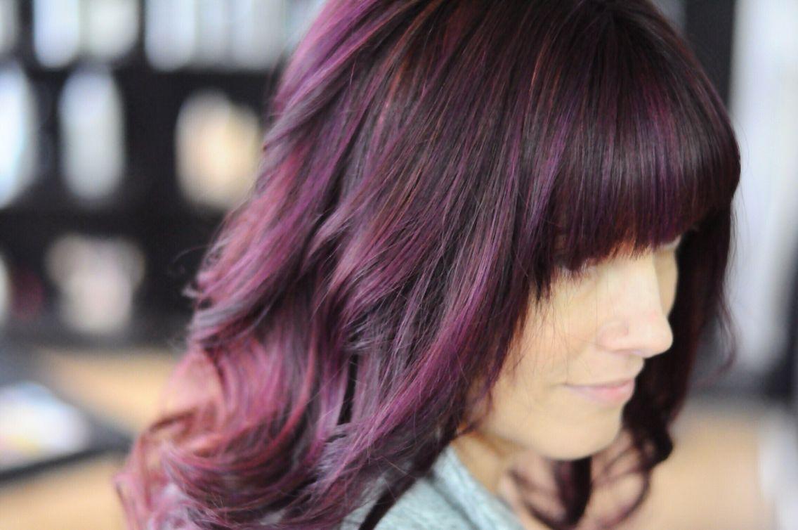 Deep Purple Plum Eggplant Hair Color By Stylistshannonnicole