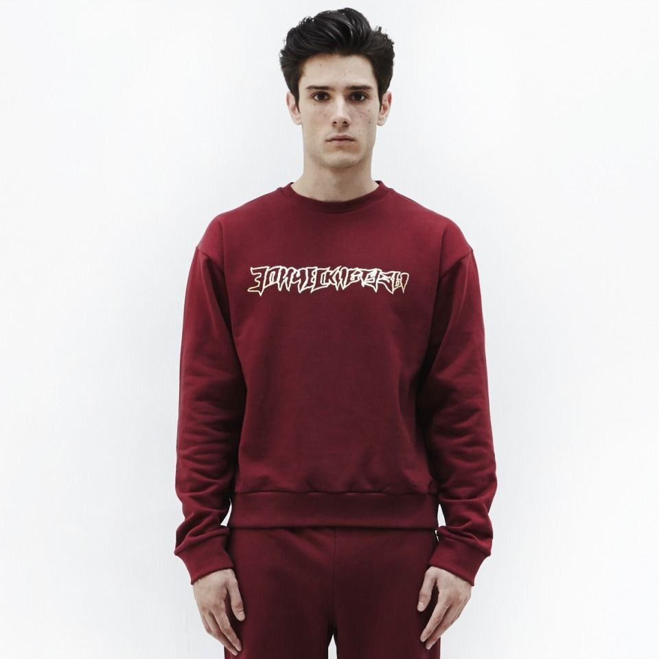 Burgundy sweatshirt by Gosha Rubchinskiy £102 (Excludes VAT)