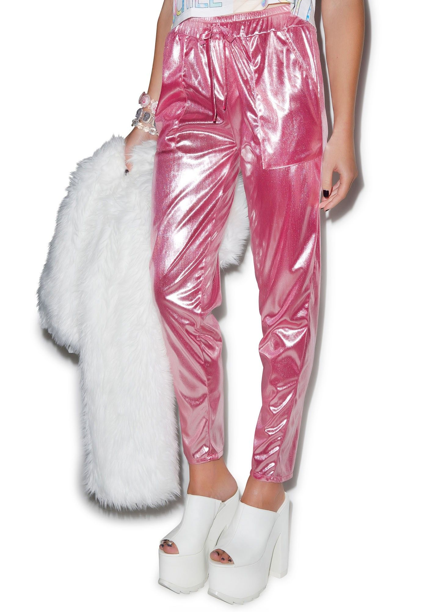 Bubblicious Metallic Pants | Dolls KillI Idk why but I like these, they're different