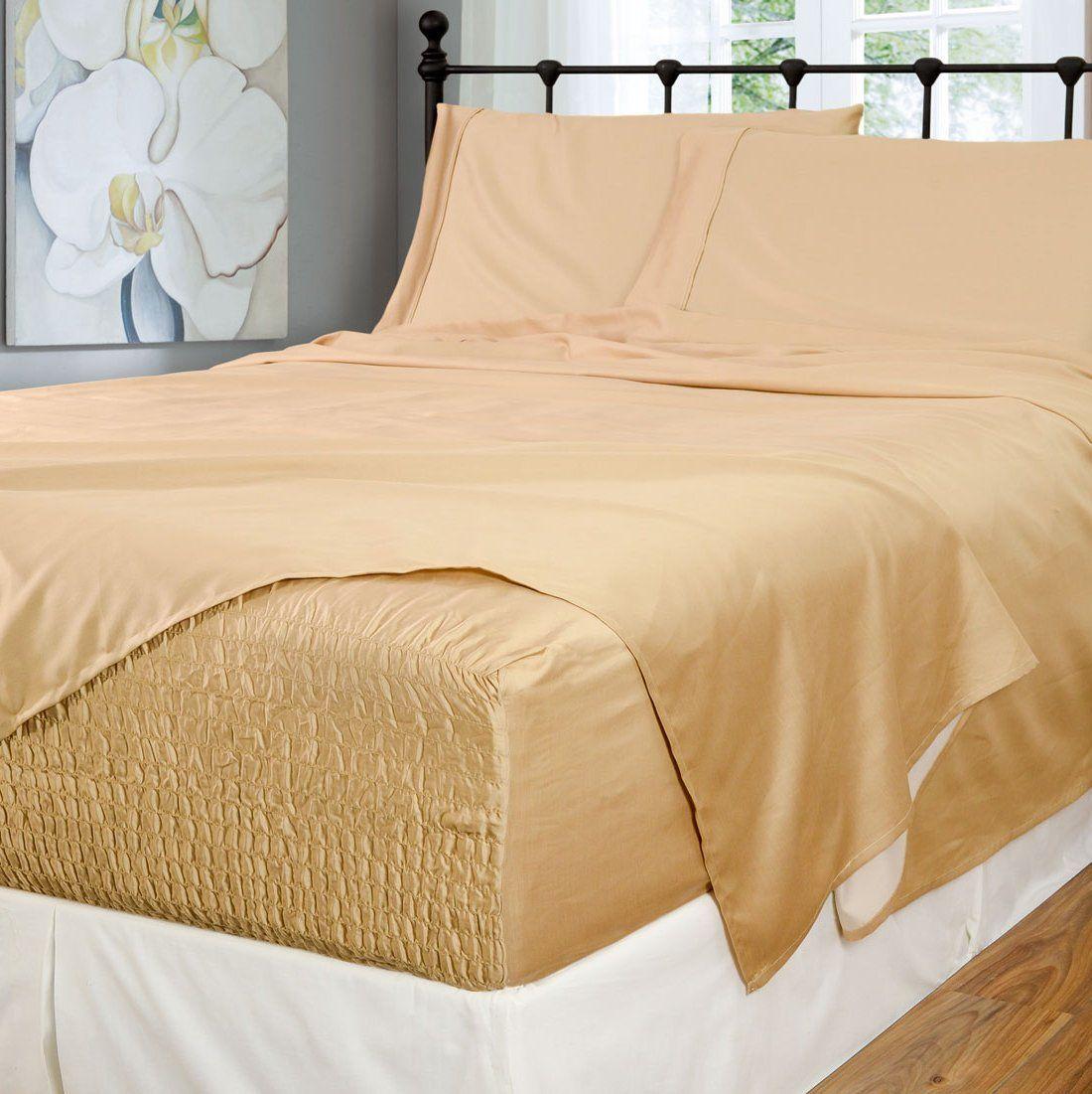 Bed tite stretch fit 500thread count cotton rich super
