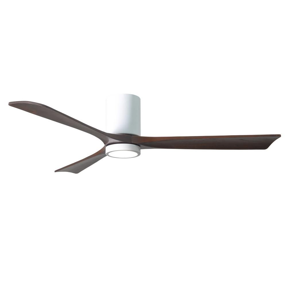 Atlas Irene 60 In Led Indoor Outdoor Damp Gloss White Ceiling Fan