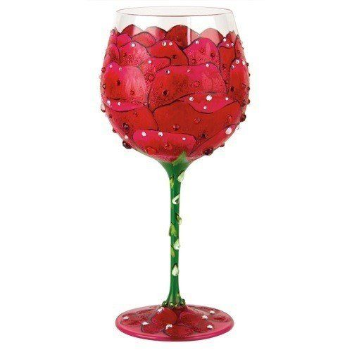 Santa Barbara Design Studio Lolita Super Bling Collection Wine Glass Red Rose *** Want to know more, click on the image.Note:It is affiliate link to Amazon.