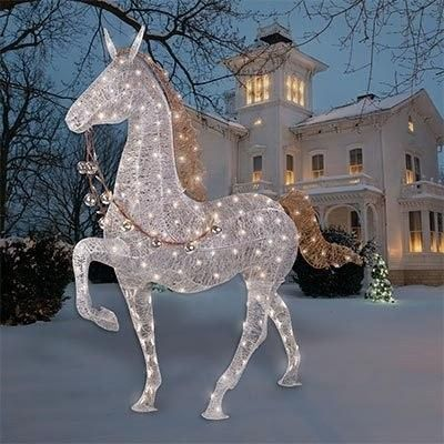 Christmas Lighted Horse Outdoor Decoration 240led Light 128079165
