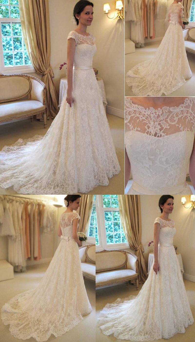 Modern bodycon wedding dresses sweep train elegant bride dresses