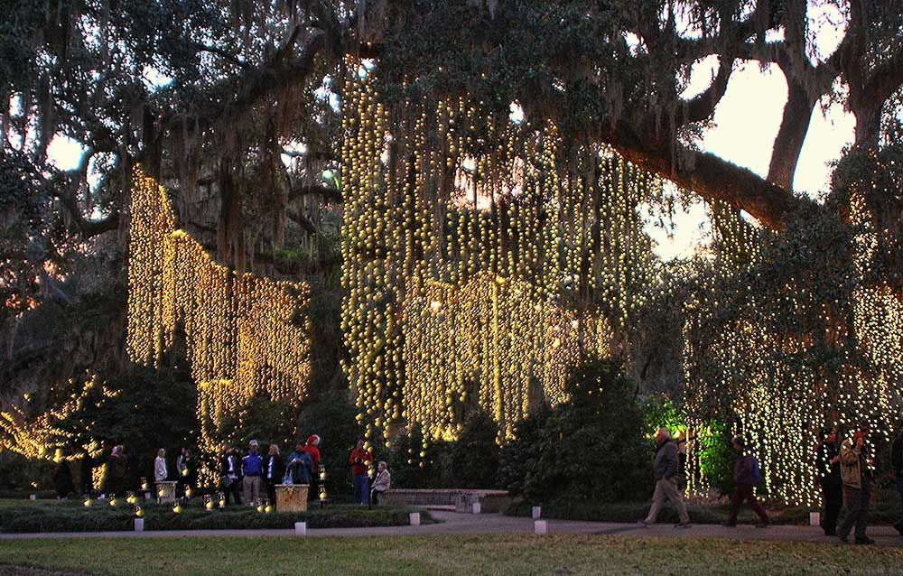Lights in trees as Brookgreen Gardens celebrates Nights of a Thousand  Candles. NO LINK - Lights In Trees As Brookgreen Gardens Celebrates Nights Of A