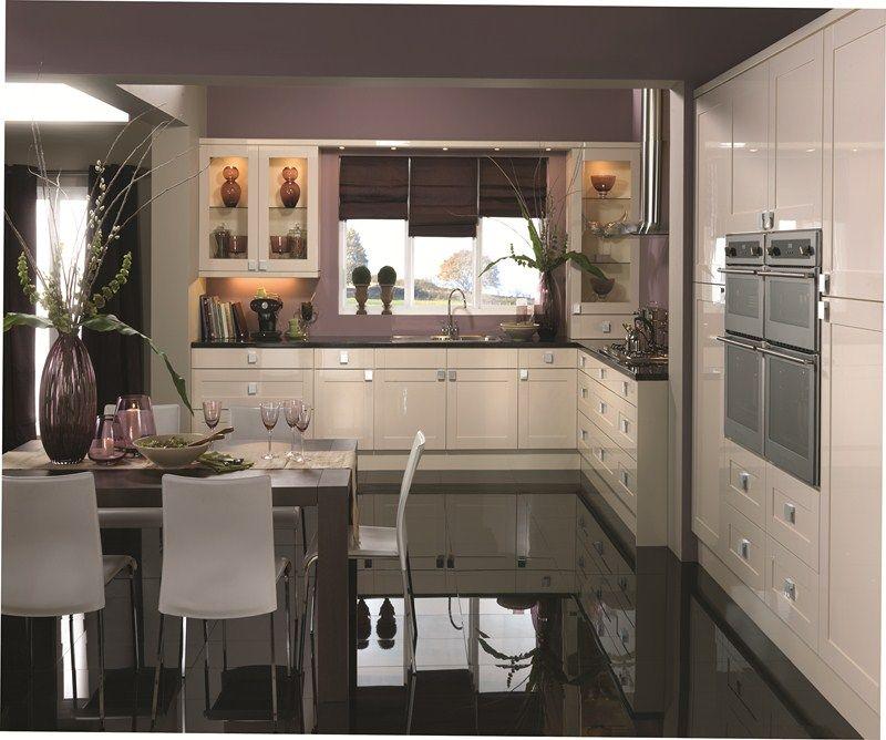 Pale Green Dark Grey And Purple Kitchen Google Search