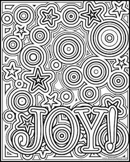 Joy coloring page- available in a negative version as well in both JPG and transparent PNG format. #coloring