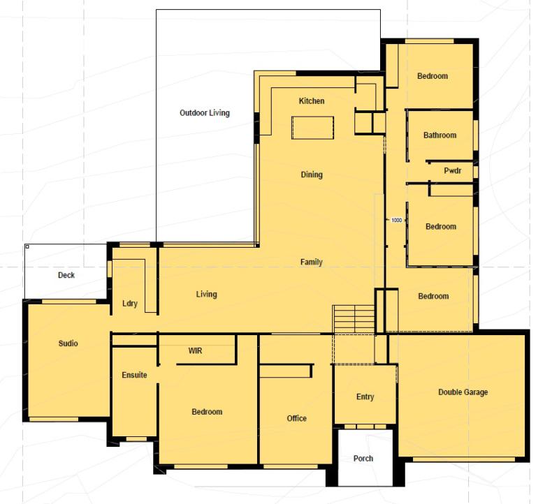 Floor plan friday 4 bedroom home suited for corner block for 7 bedroom house plans australia