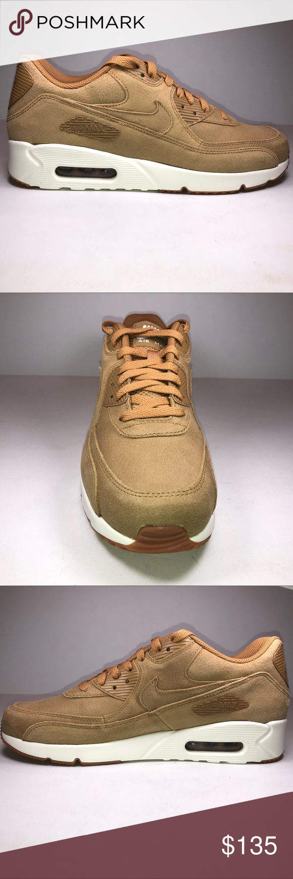 Nike Air Max 90 Ultra 2.0 LTE Flax Sail Gum Shoes New With