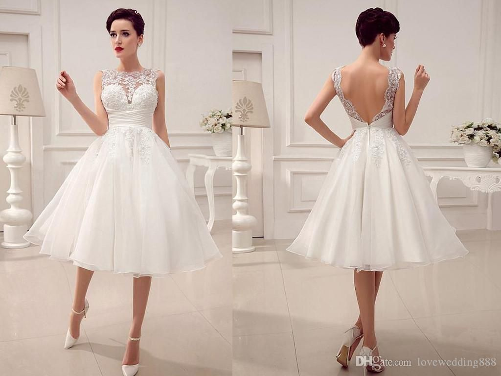 2015 Wedding Dresses Little White Dresses A-Line Wedding Dresses ...