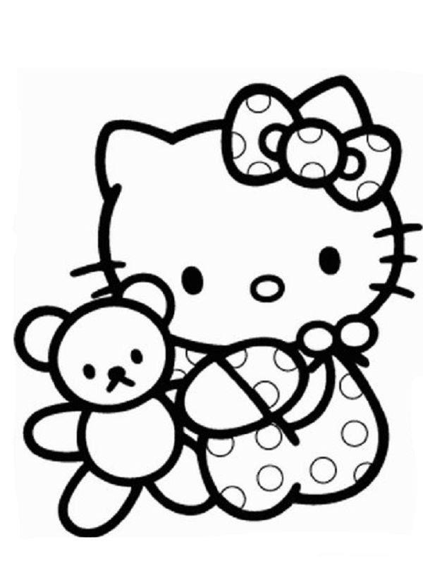 Hello Kitty Playing Teddy Bear | Hello kitty, Hello kitty ...