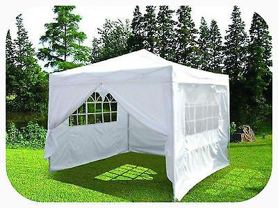 3m X 3m White Pop Up Pyramid Roof Waterproof Gazebo Tent Marquee With Windbar Gazebo Tent Gazebo Canopy Tent