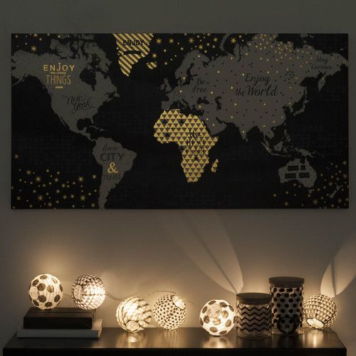 guirlande de lampions lumineuse en papier blackstage maisons du monde inspirations d co. Black Bedroom Furniture Sets. Home Design Ideas