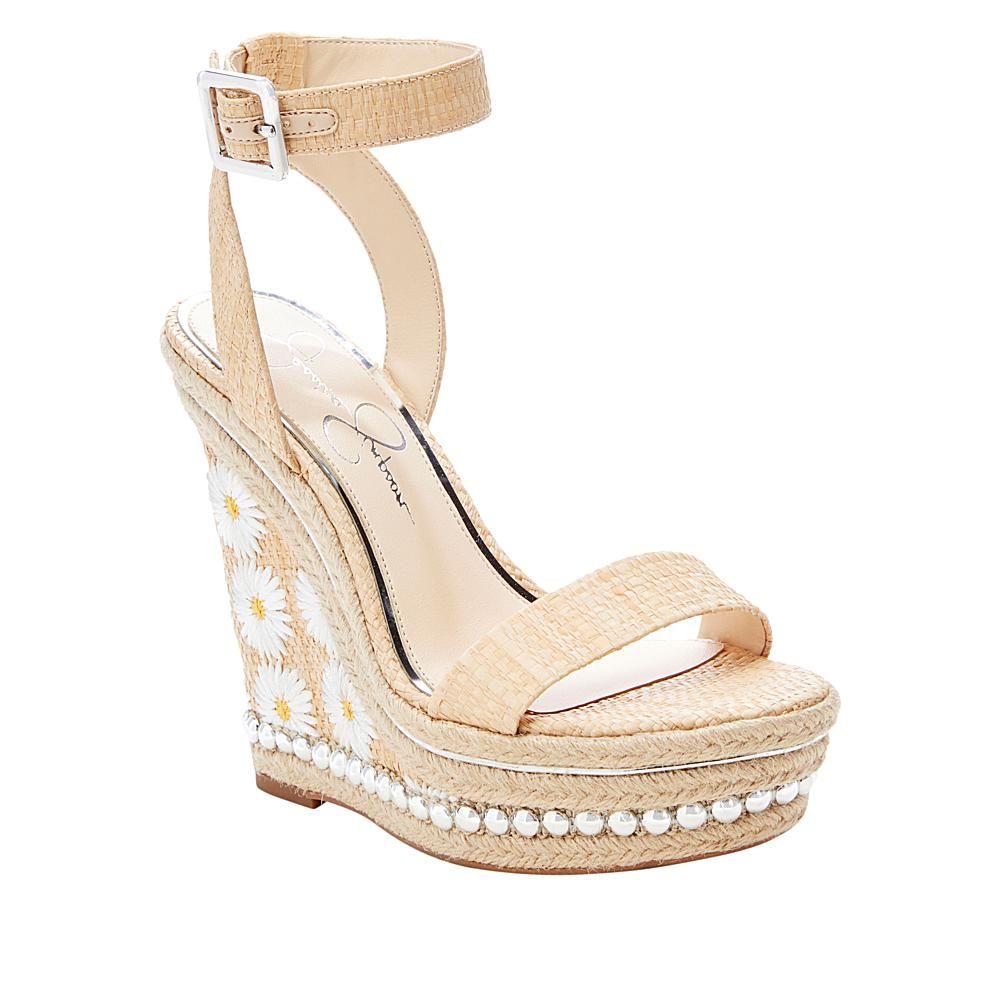 Jessica simpson alinda platform wedge espadrille sandal