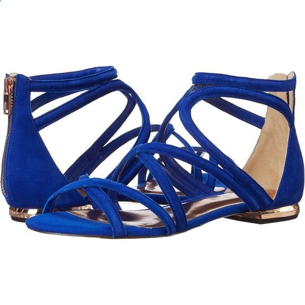 Sandals Summer Ted Baker Raria (Blue Suede) Womens Sandals ($76) ❤ liked