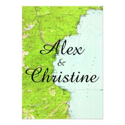 Lake tahoe map wedding invitation stopboris Images