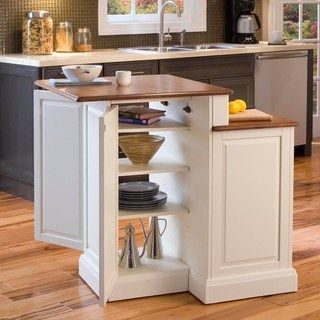 Miraculous Home Styles Woodbridge Two Tier Kitchen Island With Stools Andrewgaddart Wooden Chair Designs For Living Room Andrewgaddartcom