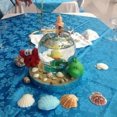 More Centerpieces I Made For A Friends Under The Sea Baby Shower Them:)