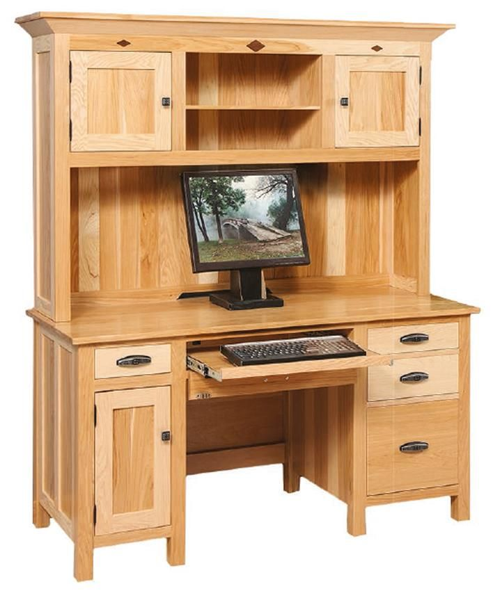 Amish Classic Mission Computer Desk