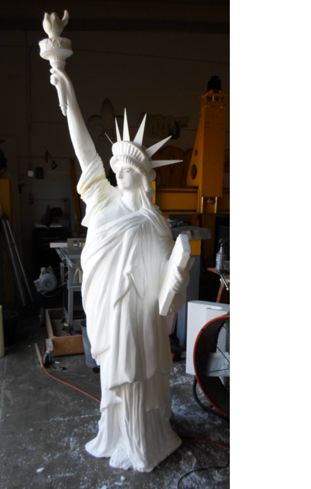 Statue of Liberty EPS Foam prop we machined with our CNC