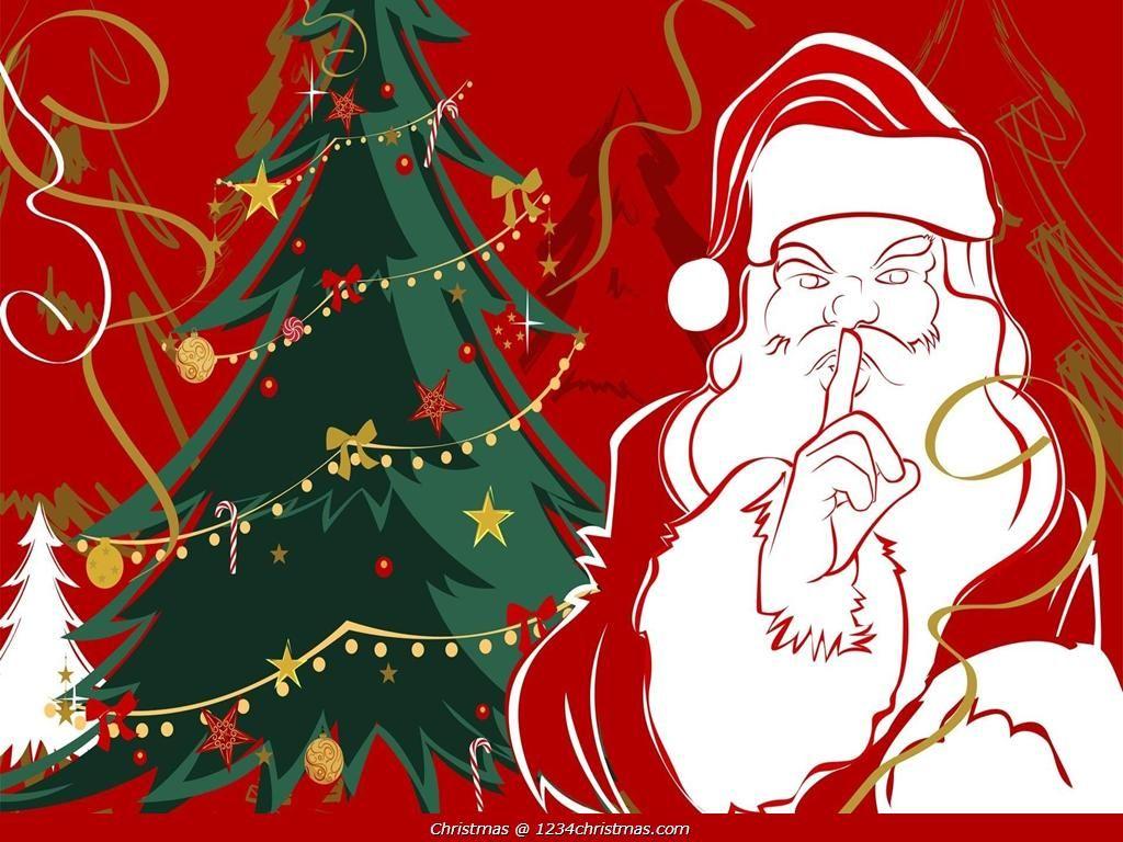 Christmas Tree Santa Claus Wallpaper Download Santa Claus