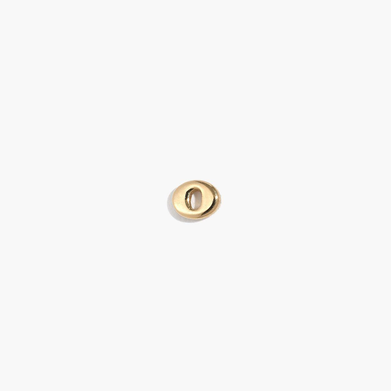 Madewell Womens Vermeil Single Letter Stud Earring