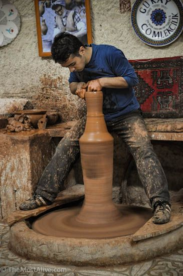 CAPPADOCIA TURKEY: The One Tourist Trap You Should Not Miss. Read more at http://themostalive.com/turkish-ceramics-cappadocia-turkey/#comment-1883