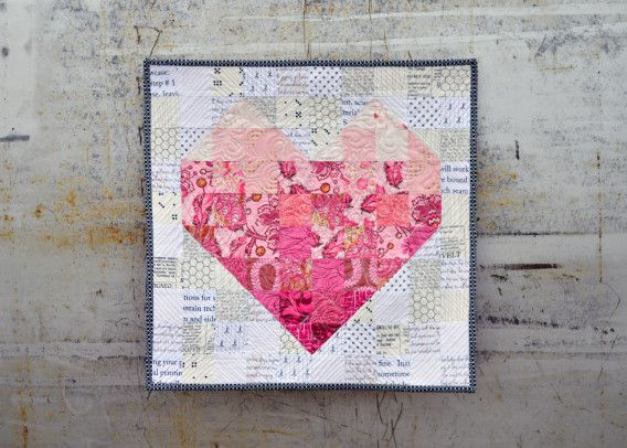 Valentine's Day Mini Quilt - Free pattern