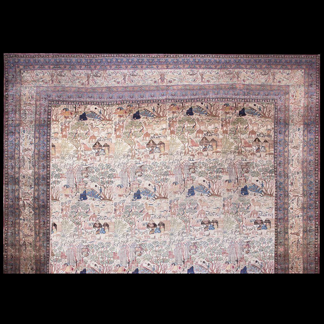 Afshar Rug - 40-2344 | Persian Formal 21' 0'' x 29' 8'' | Ivory, Origin Persia…