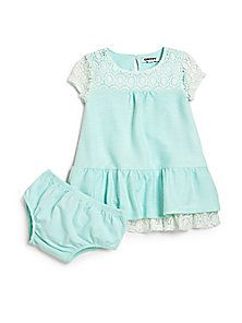 DKNY - Infant's Textured Knit Two-Piece Dress & Bloomers Set