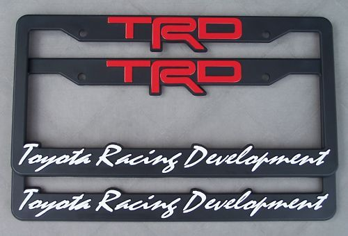 Awesome TRD License Plate Frames! Excellent Quality Product And Fantastic  Service From Seller!