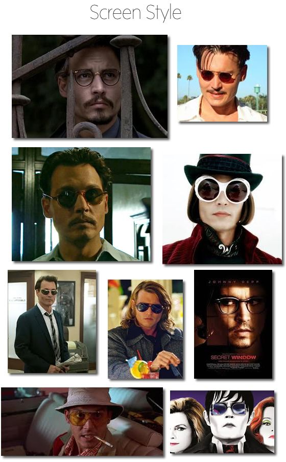 ca713fa3e12a Johnny Depp Glasses  Style Icon