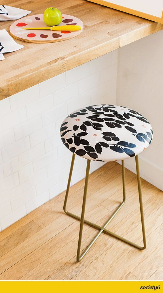 Traditional dining tables have some competition in these chic and comfortable counter stools. We've… | Society6 thumbnail