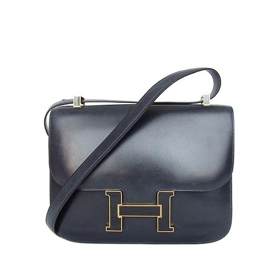 vintage hermes constance h bag blue box leather gold hardware 23 cm more blue box ideas. Black Bedroom Furniture Sets. Home Design Ideas