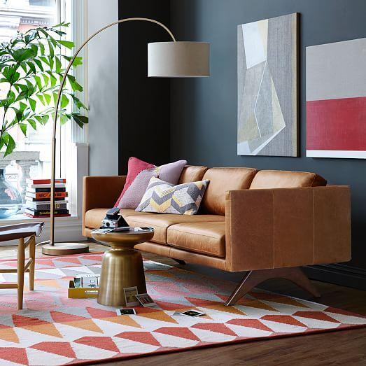 Brooklyn Leather Sofa Modern Furniture Living Room Modern Sofa