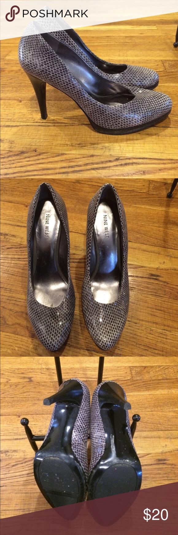Nine West grey heels Nine West grey heels. Used Nine West Shoes Heels