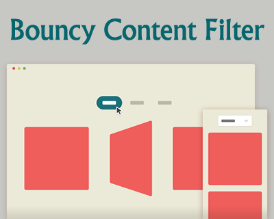Bouncy Content Filter with CSS and jQuery #jQuery #css3