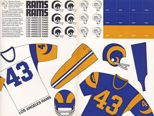 The Rams return to LA, where they made NFL helmet history