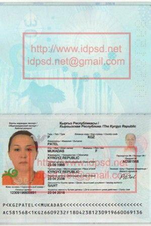 Template Kirghizia Passport PSD Passport PSD Pinterest - passport template